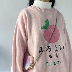 Kawaii Fashion, Cute Fashion, Fashion Outfits, Peach Clothes, Cool Outfits, Casual Outfits, Peach Outfits, Mode Kawaii, Kawaii Clothes