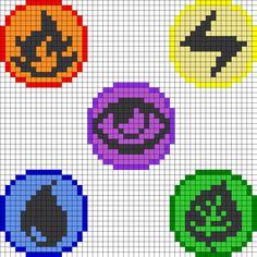 Pokemon Elements Pt1 Perler Bead Pattern
