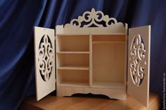 Купить Кукольный шкафчик.875. - кукольная мебель, Мебель, мебель для кукол, мебель ручной работы