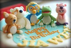 Pororo and friends Party Themes, Party Ideas, Party Like Its 1999, Backdrops For Parties, Event Planning, Biscuit, Cake Toppers, Birthday Parties, Clay