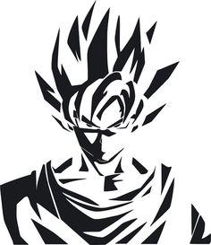 Dragon Ball Z Goku Super Saiyan Decal by StickersLike on Etsy