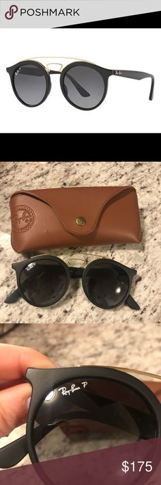 Ray Bans Polarized Gatsby Ray Bans!! Basically brand new. Have been worn twice. They are in great condition you cannot even tell they have been used. They were a gift and I just don't consider them to be my style. They do come with the brown ray ban case pictured. Please feel free to message me with any questions. Ray-Ban Accessories Sunglasses