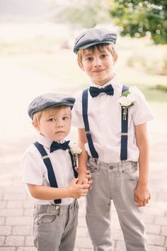Two ring bearers = the cutest partners in crime! | Melissa Gidney Photography