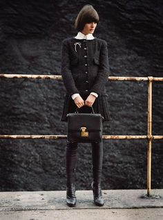 Priestly Chanel // Protestant #StyleInspiration http://dcceline.blogspot.com/2013/08/style-inspiration-religious-contrast.html