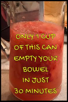 Just 1 cup of it can empty your bowels in just 30 minutes – detox drinks Detox Cleanse Drink, Detox Tea, Detox Drinks, Juice Cleanse, Cleansing Drink, Bowel Cleanse, Stomach Cleanse, Health Cleanse, Detox Soup