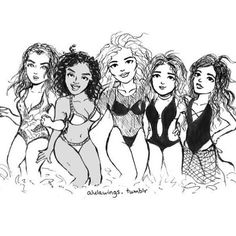 A Fifth Harmony doodle! #fifthharmony #5h #allinmyhead #fanart