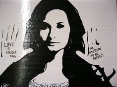 Demi Lovato Duct Tape Art! by Shay Lynam