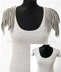DIY FASHION Tutorial. But I'd do mine in a more exciting color & with more chains...