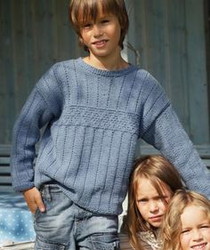 Child's Sweater With Textured Pattern, S6939 Free Pattern