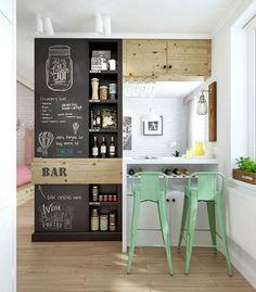 Paredes de pizarra para decorar la cocina | Decorar tu casa es facilisimo.com