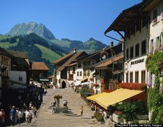 Gruyeres, Switzerland Cheese is literally the name of the game at this medieval town set in the foothills of the Alps.