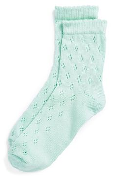 Topshop Diamond Pointelle Ankle Socks available at #Nordstrom