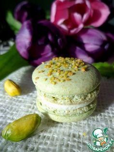 ♔ Cookies: Фисташковые макарон с базиликовым кремом