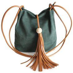 Tassel Wood Bead Shoulder Bag (1.285 RUB) ❤ liked on Polyvore featuring bags, handbags, shoulder bags, tassel handbags, shoulder bag purse, tassel purse, shoulder bag handbag and shoulder handbags