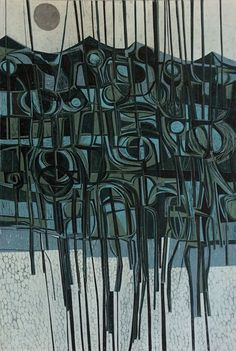 Join us for the opening of Peter Green - Sixty Years of Printmaking at Mascalls Gallery, Maidstone Road, Paddock Wood, Kent between and on Saturday June Abstract Pattern, Abstract Art, Abstract Trees, World Of Color, Cool Paintings, Tree Art, Contemporary Art, Contemporary Printmaking, Prints