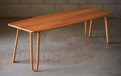 Hairpin Leg Coffee Table by Karl Young, furniture design, Fremantle, WA. See more in our interview with Makers Lane - connecting Australian artisans and craftsmen with clients: http://www.merchantandmakers.com/makers-lane-australia/