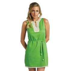 mudpie crochet neck dress