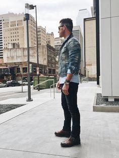 Men's Fashion: Nudie Jeans + Nudie Jean Jacket // Zara Button Down// Frye Boots//Submariner Rolex