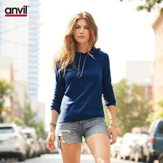casual weekend chic / lightweight hooded tee #styling #fashion