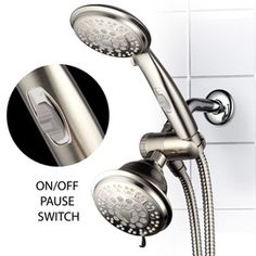 HotelSpa 4-in Brushed Nickel Showerheads with Hand Showers