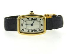Cartier 18k Gold Manual Wind Watch Featured in our upcoming auction on December 14, 2015 11:00AM EST!