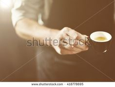 Waiter Serving Coffee Professional Cappuccino Concept