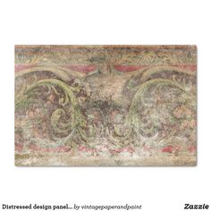Shop Distressed design panel Tissue Paper created by vintagepaperandpaint. Decoupage Tissue Paper, Custom Tissue Paper, Create Your Own, Create Yourself, Corner Designs, Paper Decorations, Vintage Images, Small Gifts, Just Go