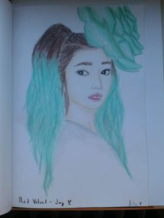 Red Velvet - Joy drawing :-) Happines ;-) Red Velvet Joy, My Drawings, Art, Craft Art, Kunst, Gcse Art, Art Education Resources