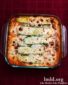 Zucchini Lasagna - Cut out the carbs with zucchini slices instead of noodles. Vegetarian too #lmldfood #thankyoulauren