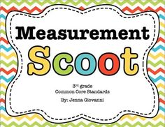 Get your students moving around the classroom and talking about math! Practice or review measurement in a fun way by using these cards to play Scoot or for a classroom Scavenger Hunt. These cards are aligned to the 3rd grade common core standards for measurement.
