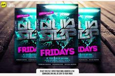 Free Dubstep Flyer Template | Free Dubstep poster | dubstep Flyer | Sickflyers.com