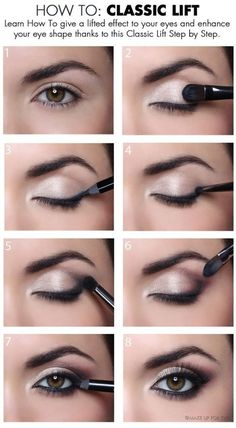 Learn how to give a lifted effect eyes and enhance your  eye shape. permabeau.com