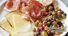 Хамон с чесноком, нутом и маслинами