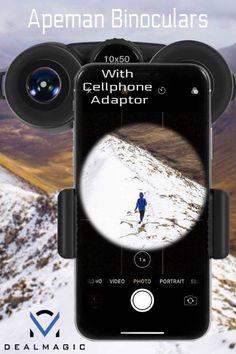 Apeman Binoculars with Cellphone Adaptor Binoculars, Smartphone