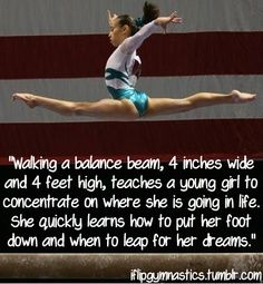 gymnastics quote  This is on our wall!