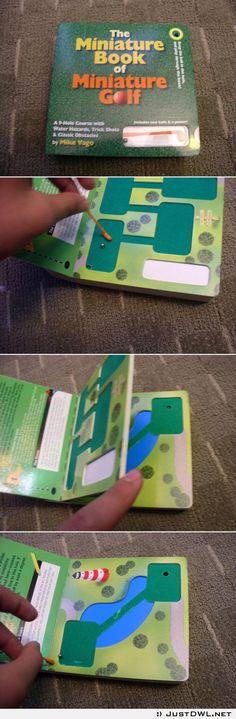 The mini book of mini #golf Pretty awesome idea.