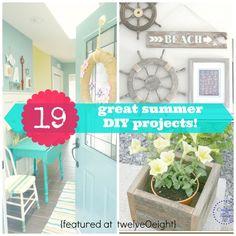 19 Great Summer DIY Ideas! - twelveOeight