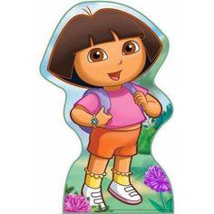 Dora Standee, Pink Dora And Friends, Baby Shower Princess, Dora The Explorer, Stand Up, Painted Rocks, Smurfs, Kids Room, Childhood, Cartoon