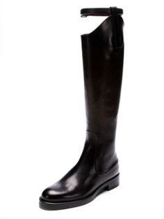 Victoria Equestrian Flat Leather Riding Boot by Gucci at Gilt
