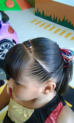 Girl Hair Dos, Baby Girl Hair, Kid Hair, Hairstyles For School, Cute Hairstyles, Selena, Hair Beauty, School Hair, Mom