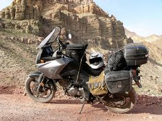 This is what a dual sport should look like! Suzuki V Strom 650.
