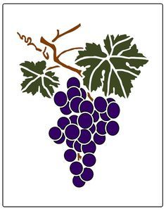 Faux Like a Pro Grape Cluster Wall Stencil, 5.5 by 7-Inch, Single