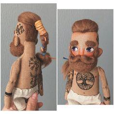 Muñeca Diy, Beard Boy, Viking Men, Bear Doll, Sewing Dolls, Doll Hair, Soft Dolls, Diy Doll, Fabric Dolls
