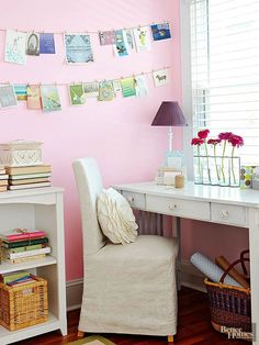 Problem: You're sentimental Solution: Greeting cards are little pieces of artwork. Make a no-cost display from all the birthday and holiday greetings you've collected by clipping them to a string and hanging. For an added bonus, when you're having a bad day just pull a card from the display and read for an instant boost.