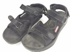 MBT Sport Sandals 8 US Men 10 US Women 41 EU Black Velcro Walking Toning Shoes  #MBT #Athletic