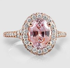 Brilliant Earth - Beautiful Pink & White Diamond Ring set in Rose Gold ~ Bijoux Art Deco, Bijoux Diy, Brilliant Earth, Bijoux Or Rose, Bling Bling, Diamond Are A Girls Best Friend, Beautiful Rings, Just In Case, Jewelry Accessories
