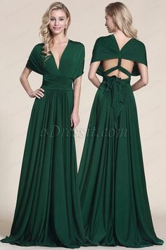 A Guide To Bridesmaids Dresses. Picking bridesmaids gowns is no simple job, but it is among the most interesting and typically the most emotional parts of the wedding planning proc Infinity Dress Ways To Wear, Infinity Dress Styles, Infinity Dress Bridesmaid, Green Bridesmaid Dresses, Prom Dresses, Vestido Convertible, Multi Way Dress, Prom Outfits, Dress Tutorials
