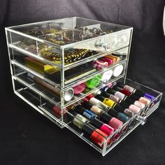 Makeup Storage, Makeup Organization, Clutter, Storage Ideas, Drawers, Crystals, How To Make, Shopping, Model