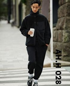 Browse the most sought after Engineered Garments clothing including Shirts (Button Ups), Light Jackets, Casual Pants, & more. Look Fashion, Winter Fashion, Mens Fashion, Fashion Outfits, Fashion Trends, Winter Outfits Men, Black Outfits, Engineered Garments, Street Style Looks
