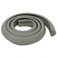 Baby Children Desk Table Edge Guard Protector Softener Foam Safety Cushion Strip Light Gray 2M